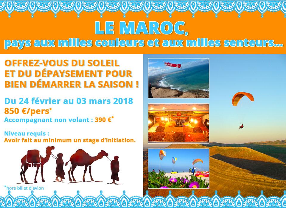 Stage parapente Propulsion au Maroc